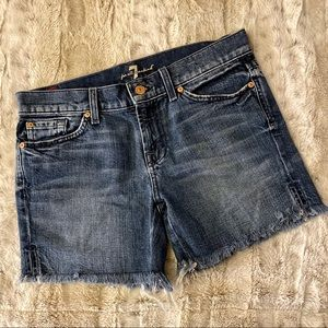 7 For All Mankind Denim Cutoff Shorts